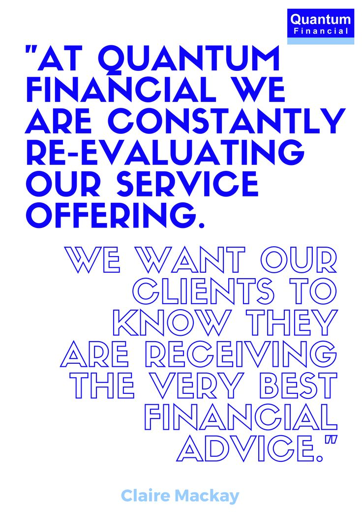 Claire Mackay on how Quantum Financial constantly re-evaluates its client service offering #value #entrepreneur #smallbiz