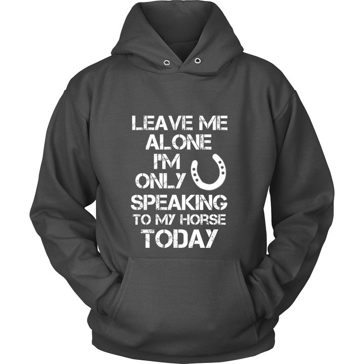 Leave Me Alone I'm Only Speaking To My Horse Today // Hoodie