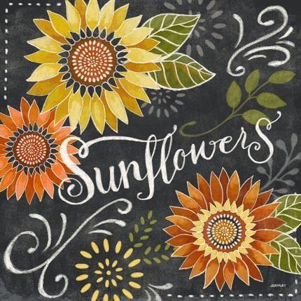 Chalk Sunflowers by Jennifer Brinley | Ruth Levison Design