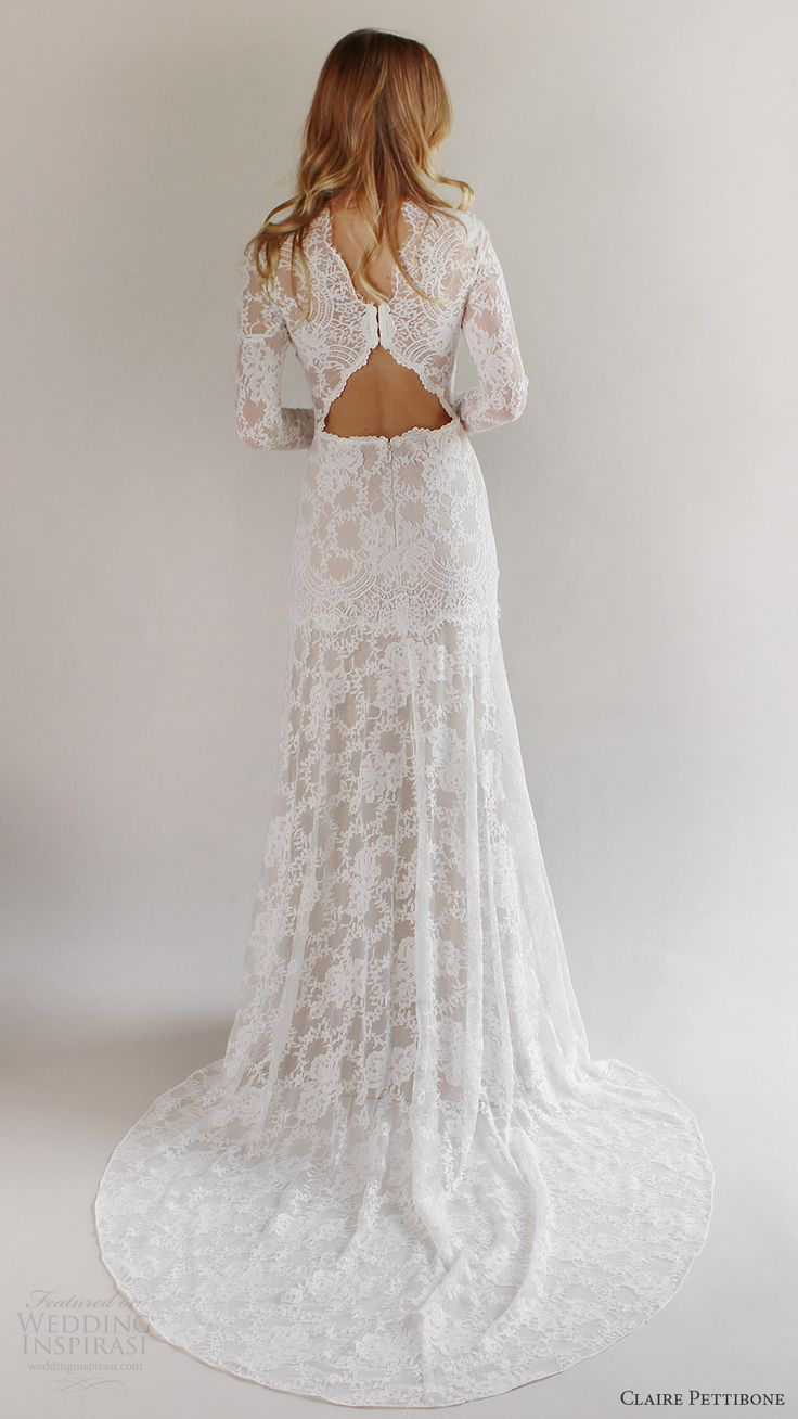 claire pettibone bridal spring 2017 long sleeves high neck lace wedding dress (beverly) bv elegant romantic train