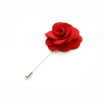 My design inspiration: Flower Lapel Pin Red on Fab.
