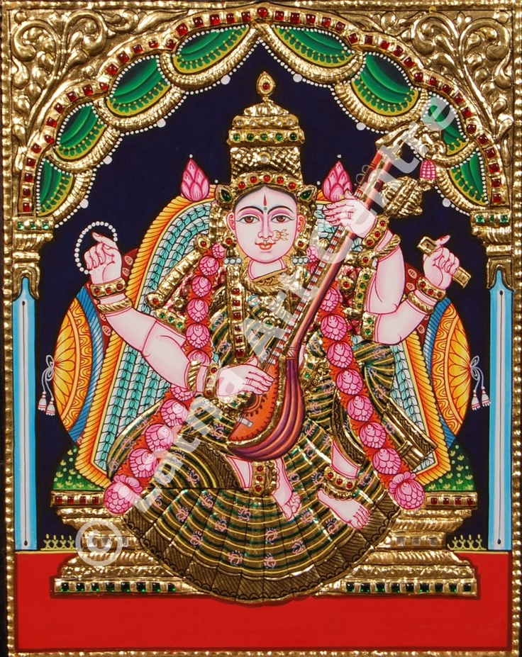 Tanjore style of paintings.
