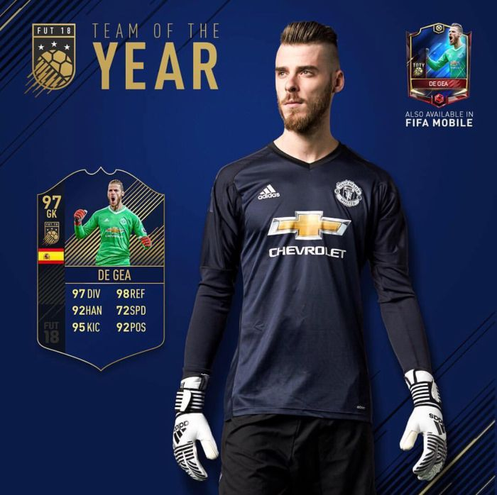 best sneakers e46b8 8ba08 Manchester United winsh David de Gea na Team of the Year ...