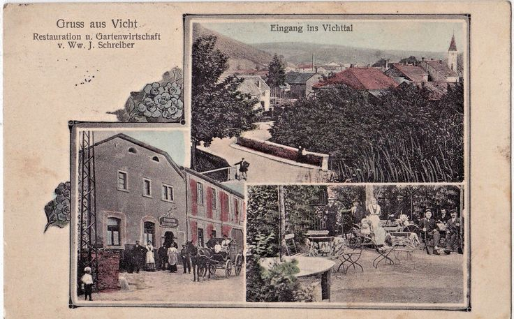 Vicht Germany Rare 1911 Stolberg Rhine-Westphalia Nordrhein-Westfalen Rheinland