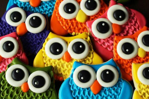 thebearfootbaker : Owl Cookies