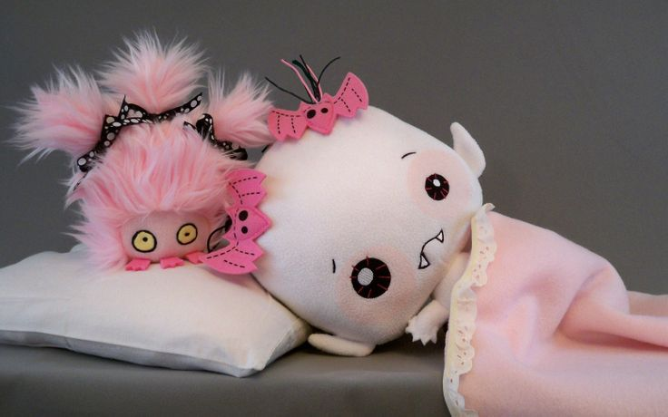 """WIN VAMPYRE BABY LILY & HER BITEMARE! Click """"<3"""" and """"PIN"""" for a chance to take home Vampyre Baby Lily Rose Shadowlyn AND the Bitemare that haunts her dreams! The bad-dream-bearing Bitemares cannot enter the mortal world unless we reach our Kickstarter goal, and we need your help spreading the word! Click here to help bring the Bitemares to your home: http://kck.st/1j78i0w #Vamplets #Plush #BabyVampyres"""