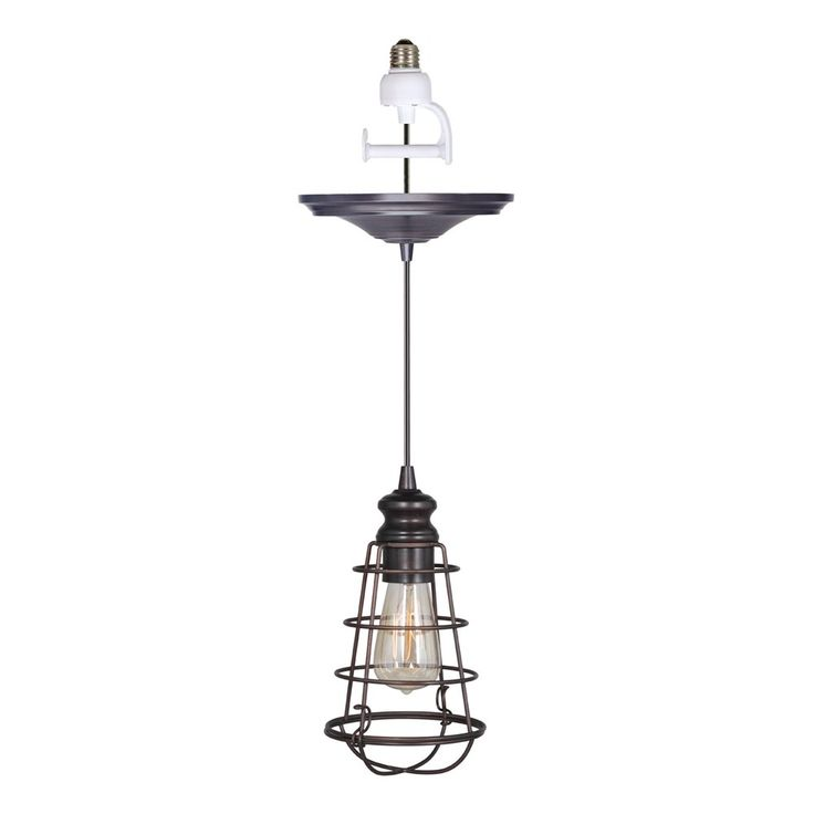 Worth Home Products PBN-6 Instant Pendant Light and Wire Cage Shade | ATG Stores
