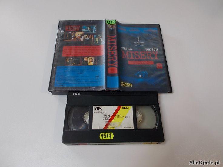 MISERY - Stephen King - VHS Kaseta Video - Opole 1666 (Opole)