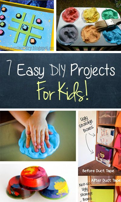 Ridiculously Easy Kids DIY Projects #diy #kids