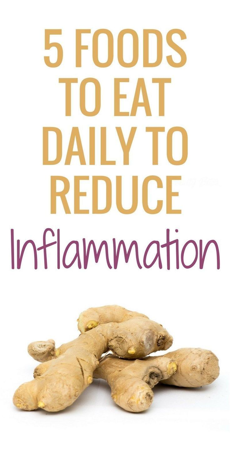 Eat these 5 anti-inflammatory foods daily to get rid of inflammation. Inflammation is linked to depression, difficult weight loss and a number of age-related diseases like cancer, cardiovascular disease & Alzheimer's. These 5 anti-inflammatory foods are l