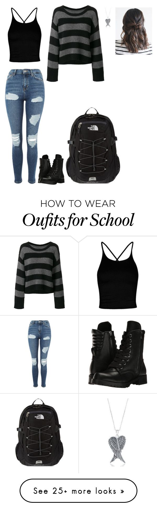 """""""Stel Ace's Spring Outfit! Updated!"""" by nataliaace on Polyvore featuring Boohoo, RtA, Topshop, La Preciosa, Capezio and The North Face"""