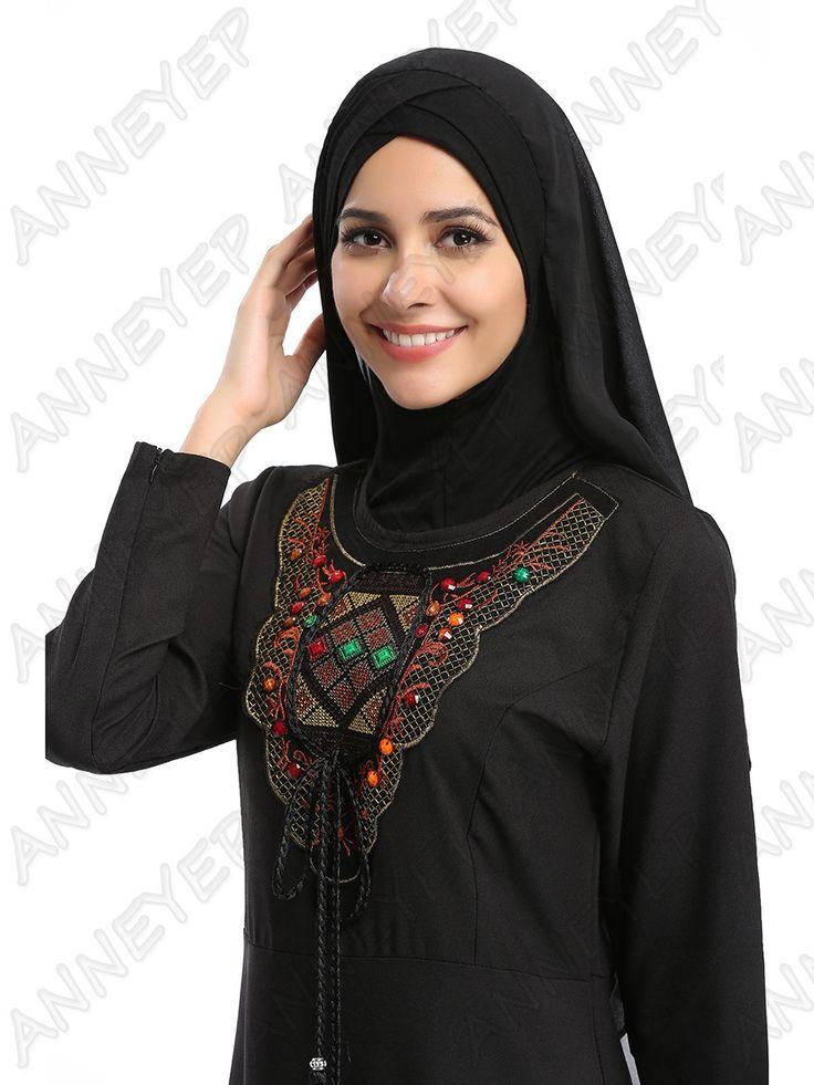 Muslim Abaya Kaftan Dress Islamic Clothing for Women Abaya Fashion Plus Size Arab Dubai Kaftan Dress A13FP2A6015 -2 #Islamic clothing                    size(cm)  M:length 139,shoulder 37,chest 96,waist 82,hem 186  L: length 140,shoulder 39, chest 100,waist 86,hem 192  XL:length 141,shoulder 41, chest 104,waist 90,hem 198