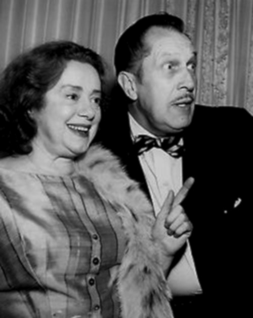 Elsa Lanchester and Vincent Price