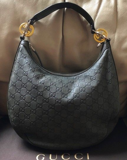 b9e71110c10 Twins Guccissima Shoulder Green Leather Hobo Bag