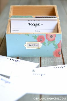 Anthropology Inspired Recipe Box! Such a great gift idea, too!