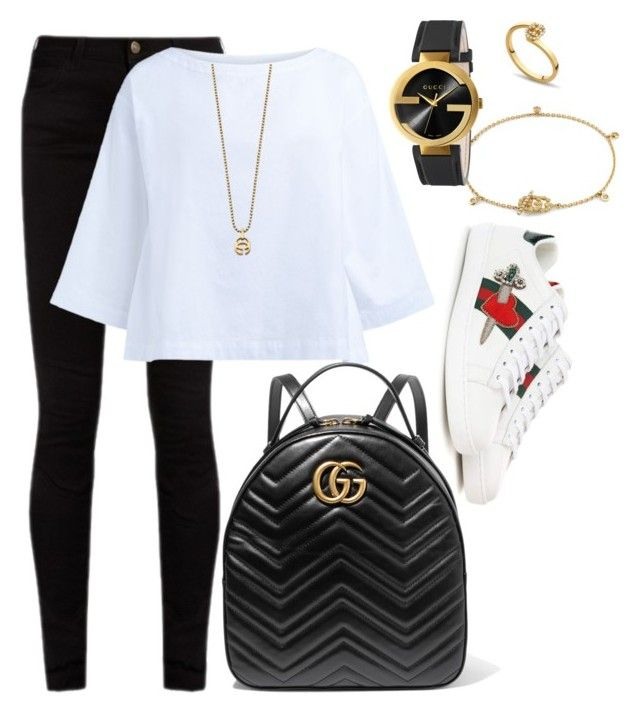 """""""School"""" by pitaa29 on Polyvore featuring Gucci and Erika Cavallini Semi-Couture"""