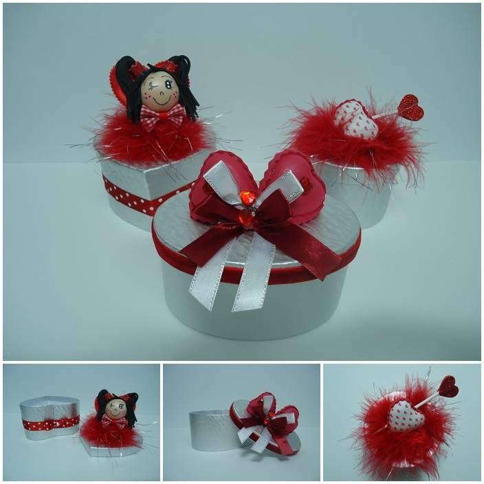 Cajas personalizadas San Valentin decoradas con goma eva