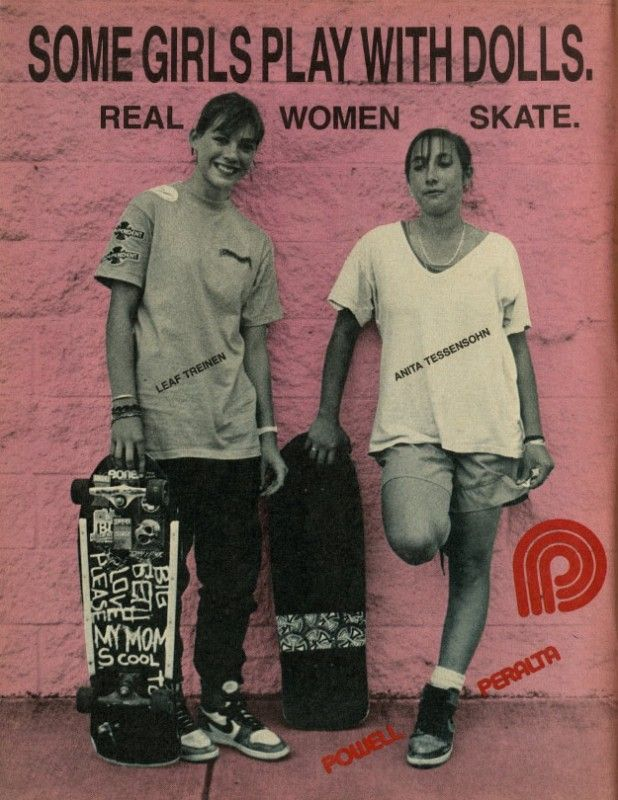 Powell Peralta - Real Women Skate Ad (1987) < Skately Library