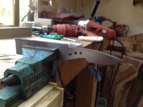 Como Fabricar un Mini Cuchillo de Bolsillo desde Cero. - YouTube                                                                                                                                                                                 Más