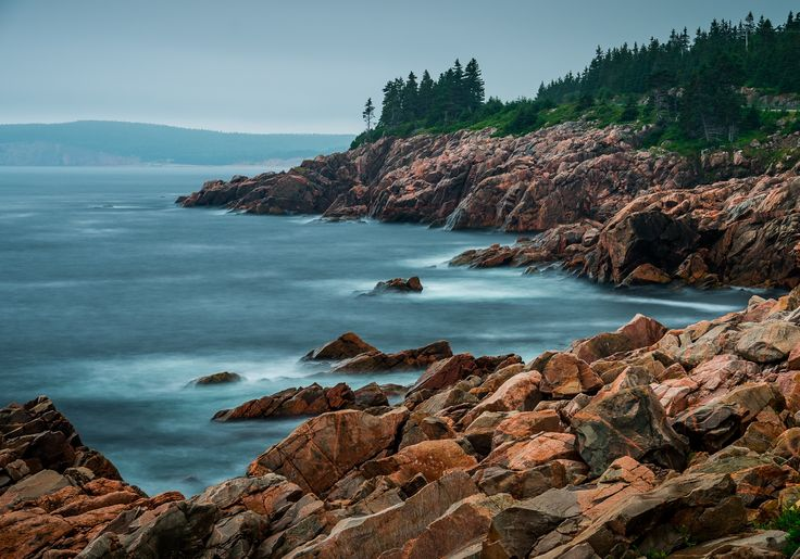 Rainy day long exposure on the eastern shore of Cape Breton Highlands National Park.