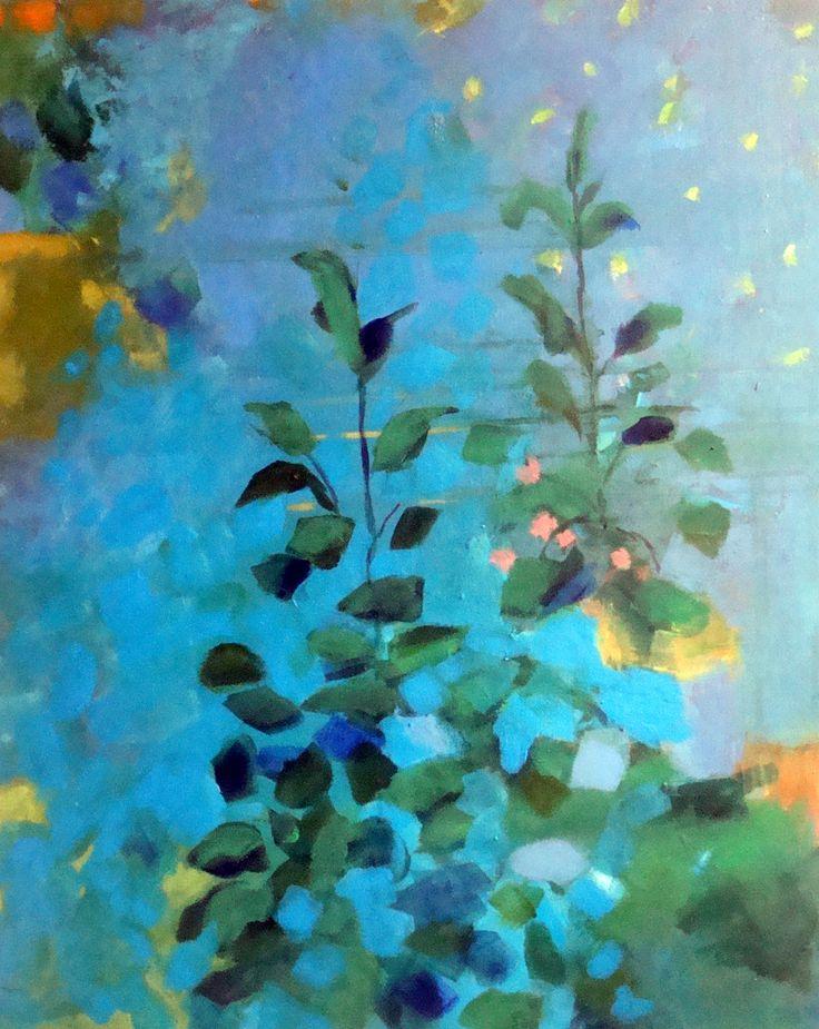 Sini Pelto. Night flowers / Acrylic
