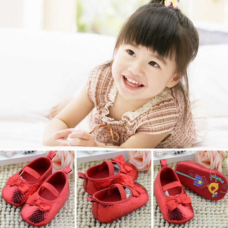 >> Click to Buy << Baby Girls Red Shoes Butterflt Knot Red Baby Girl Shoes Soft Bottom with Cartoon Pattern Newborn Baby Girl Shoes First walkers #Affiliate
