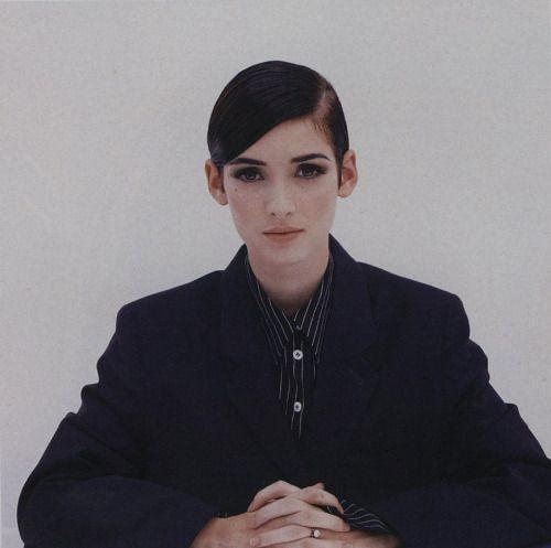 Winona Ryder photographed by Wayne Maser, Vogue November 1992.