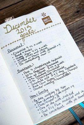 December Goals in my Bullet Journal