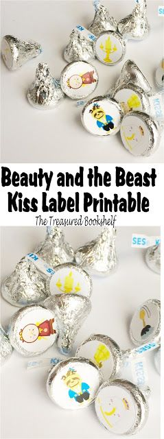 Make some fun Beauty and the Beast kiss printables for your book club, birthday party, or favorite fan. This free printable is great for He...