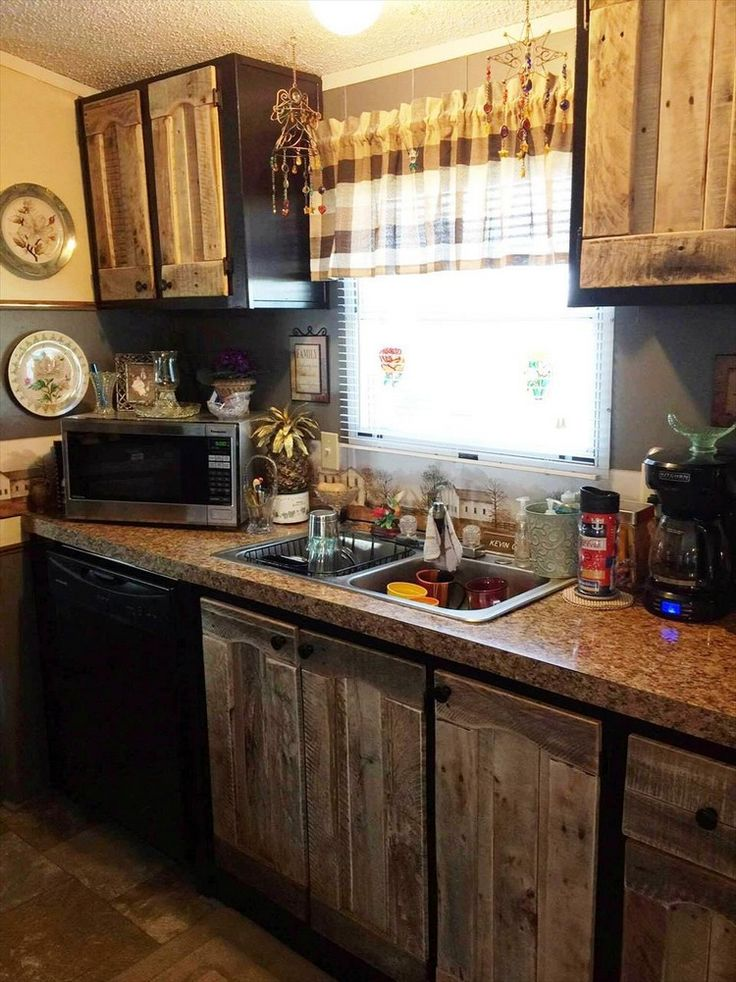 Unique Kitchen Cabinets Made Out Of Pallets