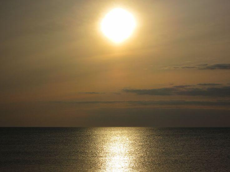Sonnenuntergang in Nørre Lyngvig an der dänischen Nordsee. #Dänemark #Sonnenuntergang #Lyngvig #Nordsee