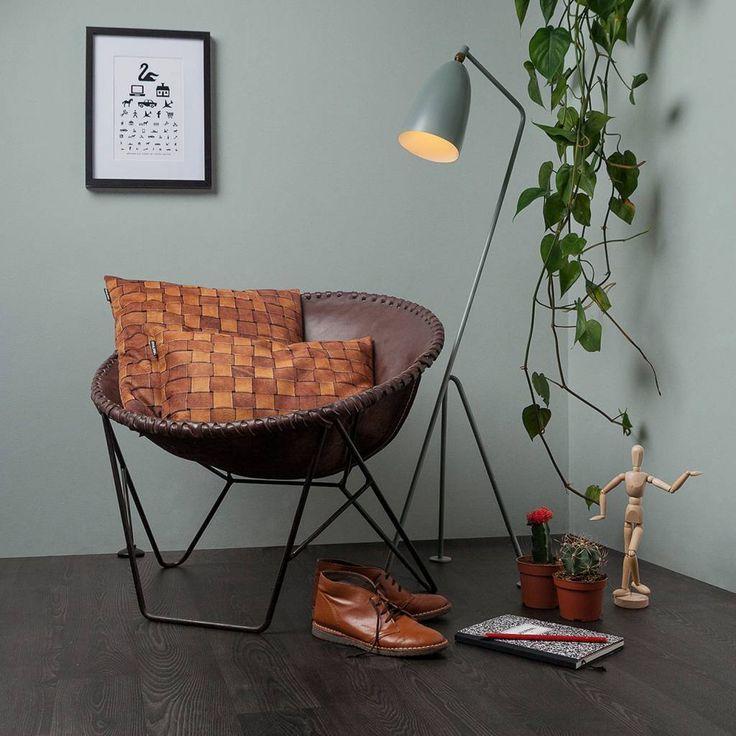 Snurk Beddengoed Sierkussen hoes 'Heather leather' bruin leer 35x50cm - wonenmetlef.nl