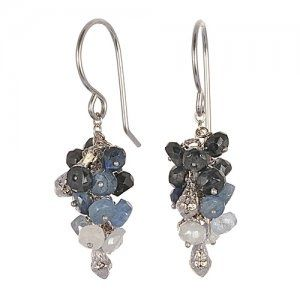 Sapphire Cluster Earrings - Ottawa jewelry Store