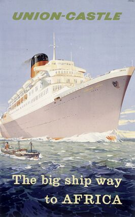 Union Castle Line brochure from the 1960s or 1970s featuring the RMS WINDSOR…
