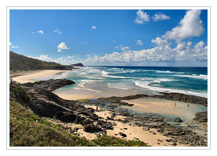 Champagne pools, Fraser Island, Australia.  I've been here and it is divine.