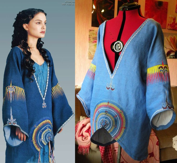 ~Please also have a look at my other Star Wars costume reproductions! ~ Padmé's blue Tattooine Poncho Padmé Amidala – Star Wars Episode 2 – Blue Tattooine Poncho The blue Star Wa…