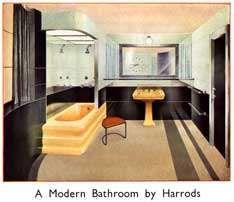 1930 Bad, Art Deco Badezimmer, Badezimmer, 1930 Haus, Lieber John,  Traummöbel, Harrods, Bad, Halle