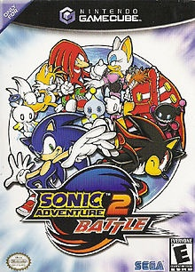 Sonic Adventure 2 Battle (SEGA), GameCube; takes place after the events of its predecessing game: Sonic Adventure. Antagonist Dr Eggman releases Shadow the Hedgehog, who joins Eggman & treasure hunter Rouge the Bat to steal the 7 Chaos Emeralds. CG adaption of Sonic Adventure 2 was released on the GC launch in Europe '02, making it the first in the series to be released for the Nintendo system. Was a commercial success, selling more than 1m globally & is 10th best selling GC game.