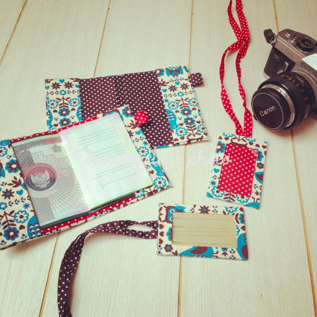 MilkCarton Passport Cover and Matching Luggage Tag