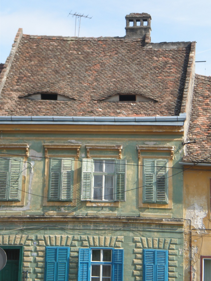 Sibiu, Romania. You're being watched!