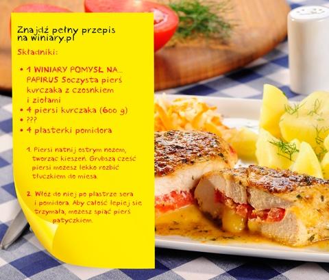 brakujący składnik: 4 plastry sera żółtego  http://www.winiary.pl/przepis.aspx/76185/piers-kurczaka-z-niespodzianka#axzz2CMw1Sk1S