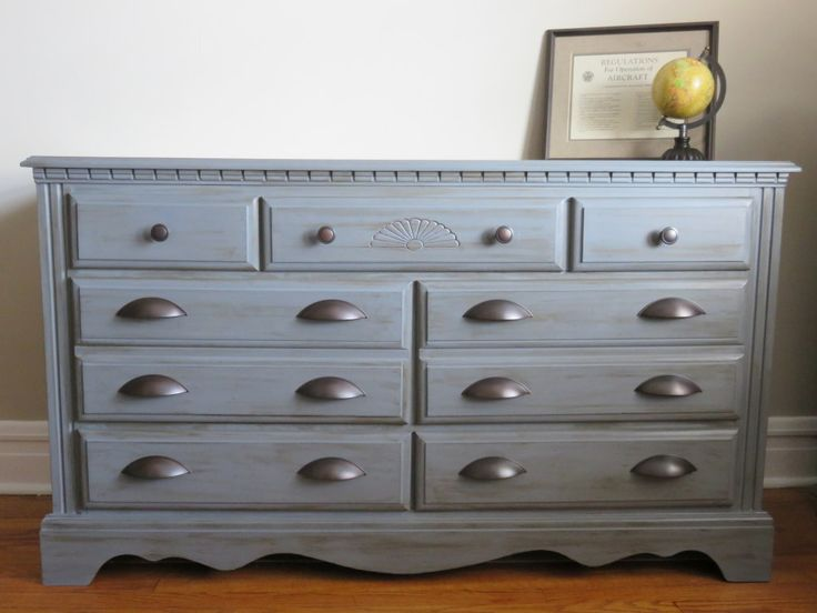 An Outdated Dresser Got New Life With Chalky Finish Paint And New Hardware!