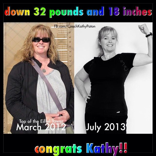 Kathy has done AMAZING with her Beachbody Programs and Shakeology..so proud of her!