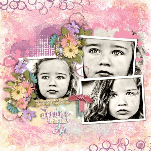 Template Creative Combos Set 10 by Designs by Laura Burger. Kit Glorious Spring by Designs by Laura Burger. Photos per kind favour of Marta Everest Photography.