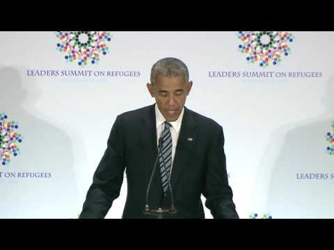 President Obama's Opening Remarks at Leaders' Summit on Refugees - YouTube
