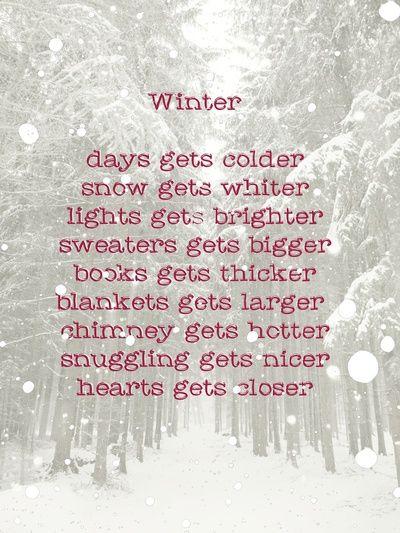 Oh i love winter !!