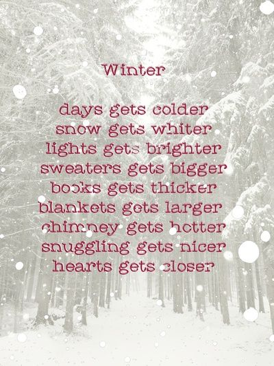 Warm hoodies ☕️hot chocolate☕️ ❄️thick snow❄️ new love