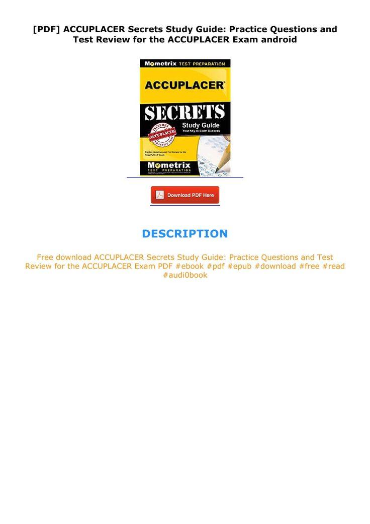 PDF ACCUPLACER Secrets Study Guide: Practice Questions ...