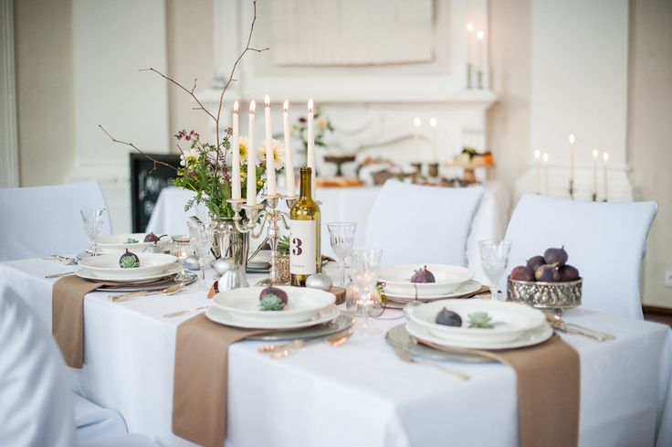 Vintage rustic wedding table setting