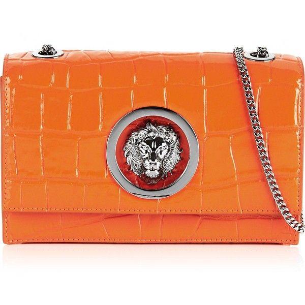 ca973215 Versus Versace Lion Head Embossed Croc Leather Cross-Body Bag ($580 ...